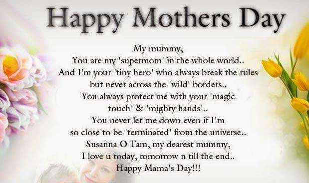 Happy Mothers Day Poems Images