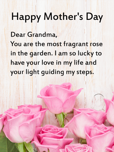 Mothers Day Wishes For Grandma