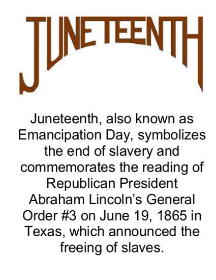 Juneteenth Messages