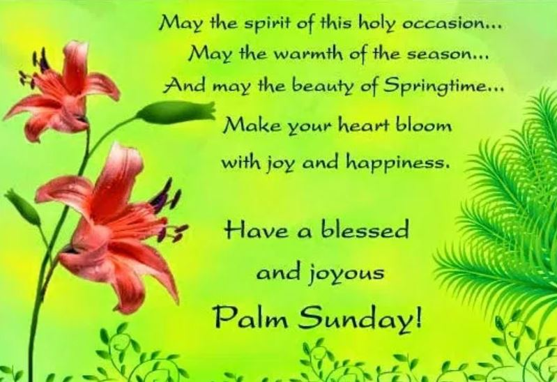 Palm Sunday Wishes Messages
