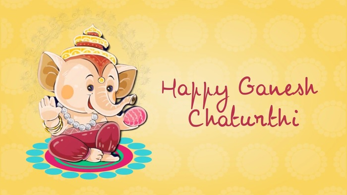 Ganesh Chaturthi Cartoon Wallpaper