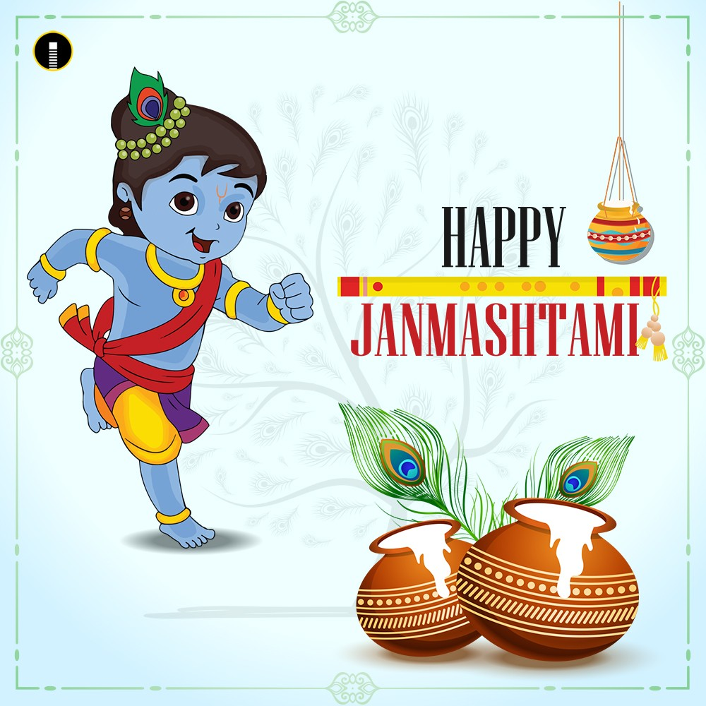 Happy Janmashtami Cartoon Images